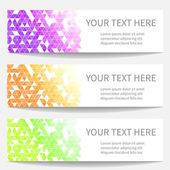 Banners with abstract triangle — Stock Vector