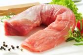 Raw pork tenderloin — Stock Photo