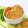 Heart-shaped cheese biscuits — Stock Photo #58708293