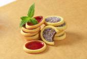 Jam  and chocolate filled tartlets — Photo