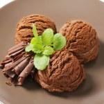 Double chocolate ice cream — Stock Photo #59915547