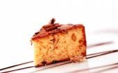 Chocolate glazed cake — Stock Photo