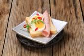 Open faced sandwich — Stock Photo