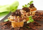 Hazelnut muffins — Stock Photo