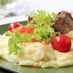 Pork ribs with mashed potato — Stock Photo #63243685