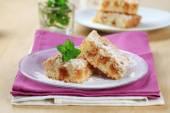 Apple crumb cake — Stock Photo