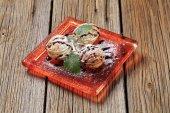 Walnut shaped cookies — Stock Photo