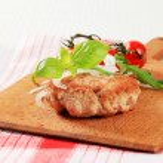 Pan fried meat patty — Stock Photo #67000541