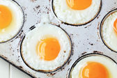Fried sunny side up eggs — Stock Photo