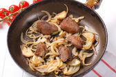 Liver and onions — Stock Photo
