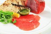 Beef Carpaccio ingredients — Stock Photo