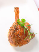 Roast duck leg — Stock Photo