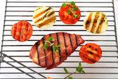 Grilled pork neck steak — Stock Photo