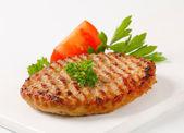 Pan seared burger — Stock Photo