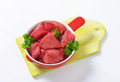 Diced beef — Stock Photo