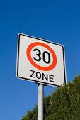 Sign maximum speed 30 — Stock Photo