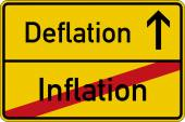 Inflation and deflation — Stock Photo