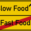 Постер, плакат: Slow Food and Fast Food