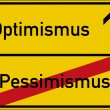 Pessimism and Optimism — Stock Photo #71476317