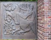Bronze relief — Stock Photo
