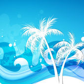 Vector Summer Background with Palm Trees — Stock Vector