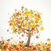 árvore de outono de vetor — Vetorial Stock