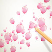 Vector Flying Balloons — Stock Vector