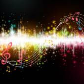 Vector Music Background with Notes — Stock Vector