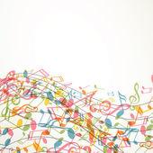 Resumo de música de fundo vector com notas — Vetorial Stock