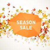 Vector Autumn Sale Design — Stock vektor