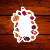 Vector Thanksgiving Tag — Stock Vector