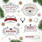Vector Christmas Design Elements — Stock Vector
