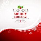 Tarjeta de felicitación de Navidad del vector — Vector de stock