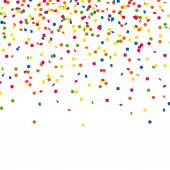 Vector Party Background with Confetti — Stock Vector