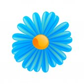 Vector Blue Flower — Stock Vector