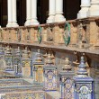Famous ceramic decoration in Plaza de Espana (was the venue for the Latin American Exhibition of 1929 ), Sevilla, Spain — Stock Photo #53862263