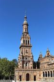 Famous Plaza de Espana (was the venue for the Latin American Exhibition of 1929 )  - Spanish Square in Seville, Andalusia, Spain — Stock Photo