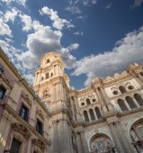 Cathedral of Malaga --is a Renaissance church in the city of Malaga, Andalusia, southern Spain — Stock Photo