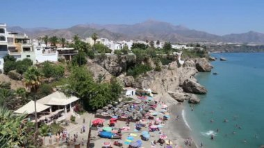 View from Balcon de Europa in Nerja, Spain — 图库视频影像