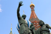 Minin and Pojarsky monument (was erected in 1818), Red Square in Moscow, Russia — Stock Photo