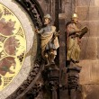 Night view of the medieval astronomical clock in the Old Town square in Prague, Czech republic — Stock Photo #59234795