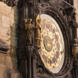 Night view of the medieval astronomical clock in the Old Town square in Prague, Czech republic — Stock Photo #59234829