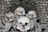 Sedlec Ossuary is a small Roman Catholic chapel, located beneath the Cemetery Church of All Saints in Sedlec, a suburb of Kutna Hora in the Czech Republic — Stock Photo