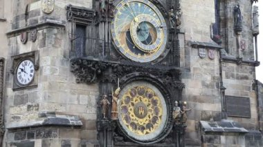 Astronomical clock in Prague, Czech republic — Stock Video