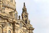 Dresden Frauenkirche ( literally Church of Our Lady) is a Lutheran church in Dresden, Germany — Стоковое фото