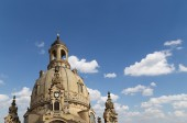 Dresden Frauenkirche ( literally Church of Our Lady) is a Lutheran church in Dresden, Germany — Stock Photo