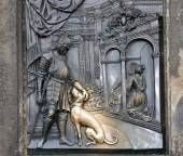 Statue on the Charles Bridge in Prague, Czech Republic — Stock Photo