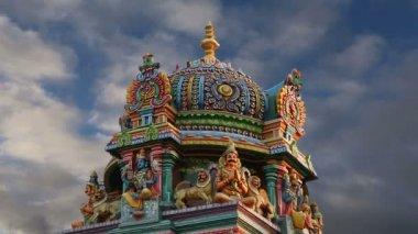 Traditional Hindu temple, South India, Kerala — Stock Video
