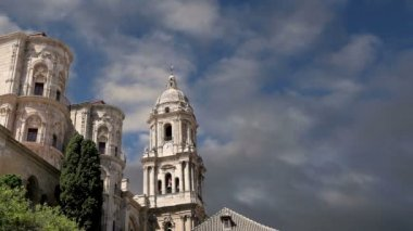 Cathedral of Malaga is a Renaissance church in the city of Malaga, Andalusia, southern Spain. — Stock Video