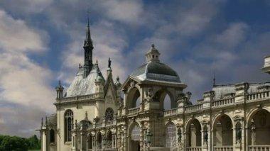 Chateau de Chantilly ( Chantilly Castle ), Oise, Picardie, France — Stock Video
